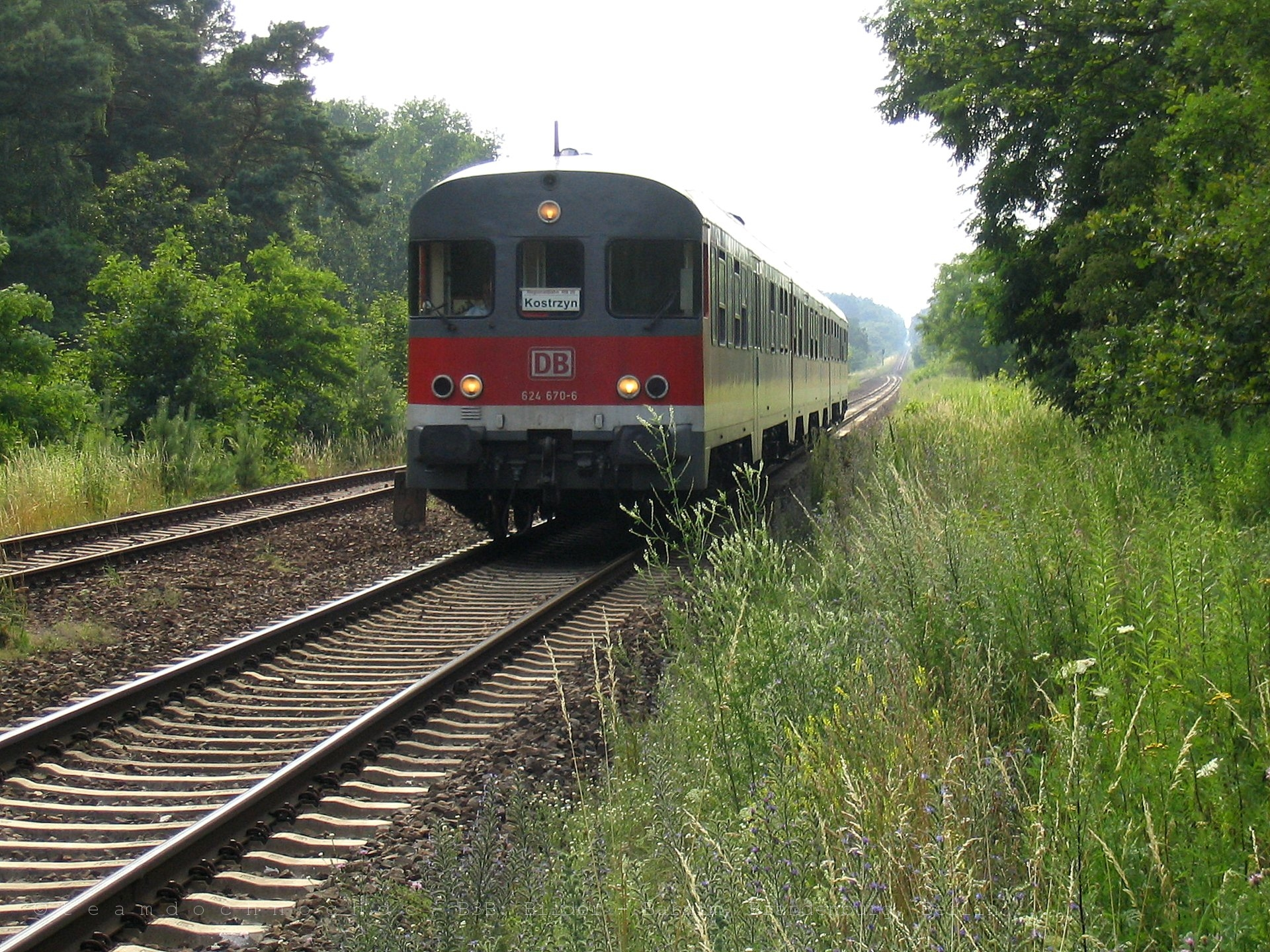 624 670-6 der DB AG auf dem Weg nach Kostrzyn