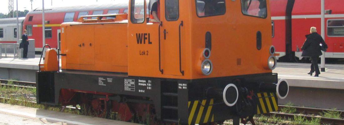 WFL Lok 2 im Bahnhof Eberswalde