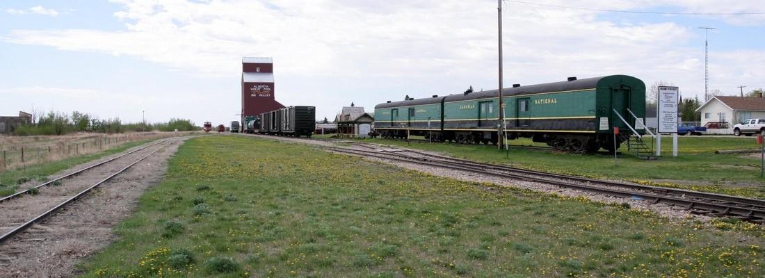 Bahnhof Big Valley, Alberta, Canada