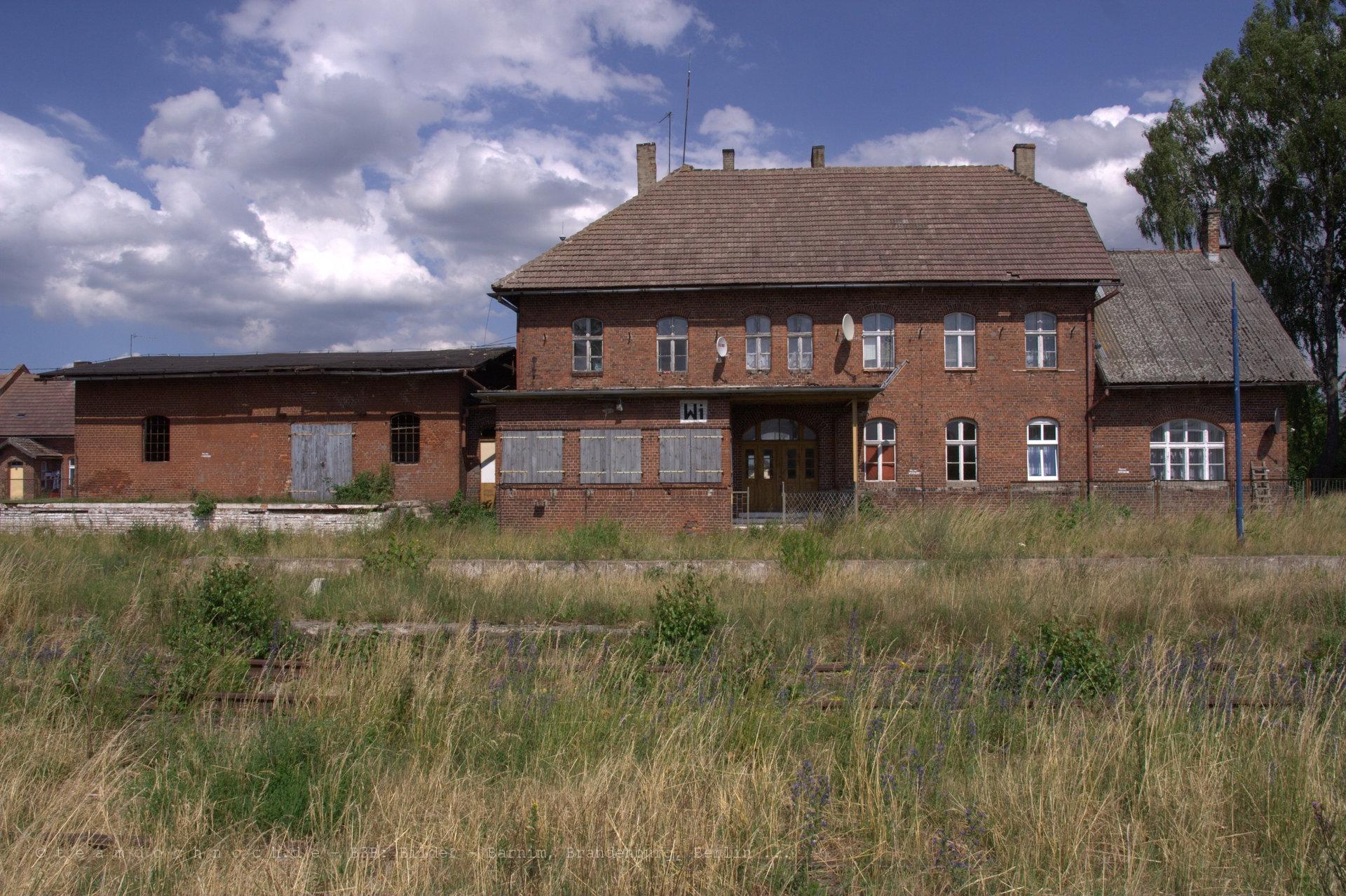 Bahnhof von Wierzchowo (Powiat Drawski)