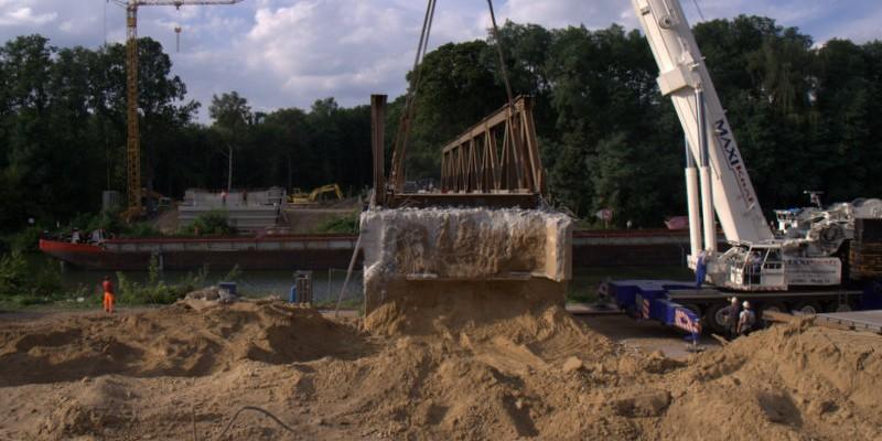 Abriß der Steinfurther Brücke