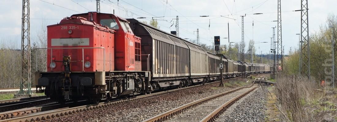 145 010-5 mit einem Güterzug kurz vor Eberswalde