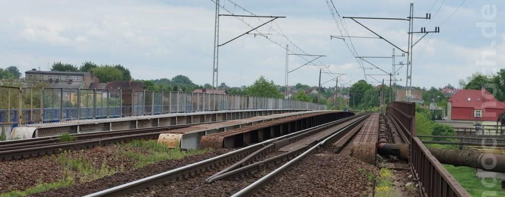 Eisenbahnbrücke über die Warthe bei Wronki