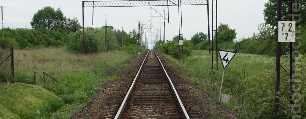 eingleisige Strecke bei Wolenice