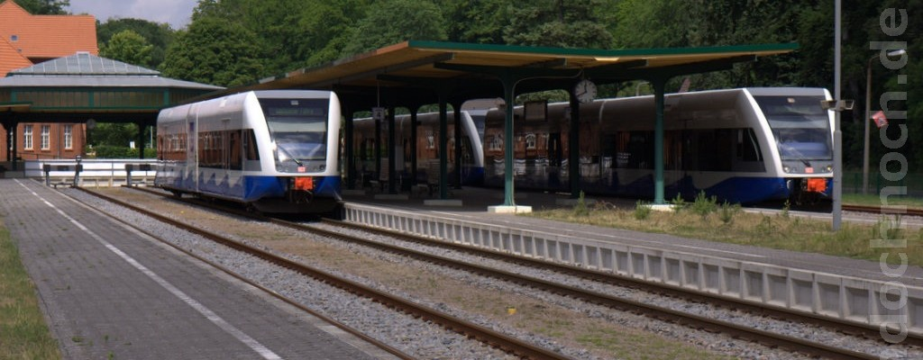 GTW 2/6 der UBB in Seebad Heringsdorf