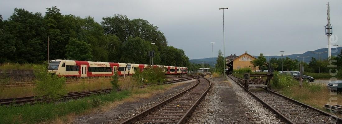 Triebwagen der Hohenzollerischen Landesbahn in Hechingen