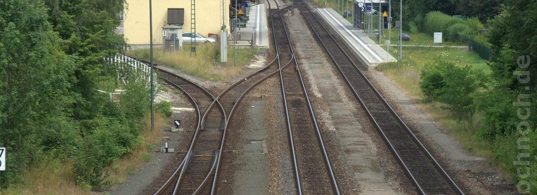 rund um den Bahnhof Maxhütte-Haidhof