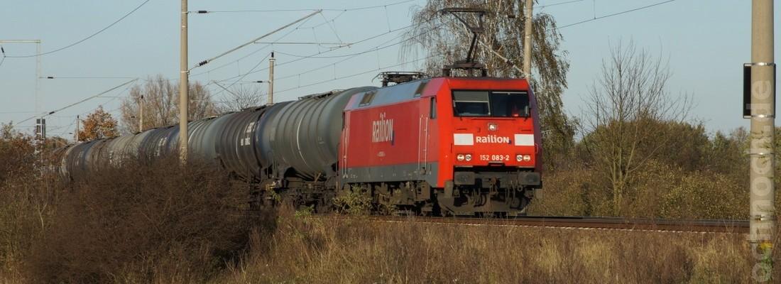 Railion 152 083-2 unterwegs zwischen Uckermark und Barnim