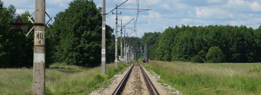 Bahnlinie von Czerwieńsk nach Sulechów