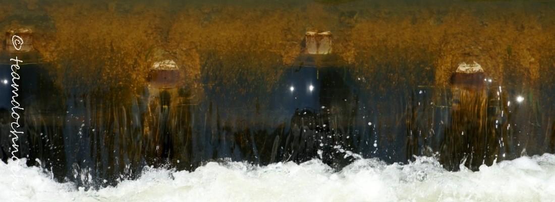 Schlauchwehr in Canow und raue Rampe