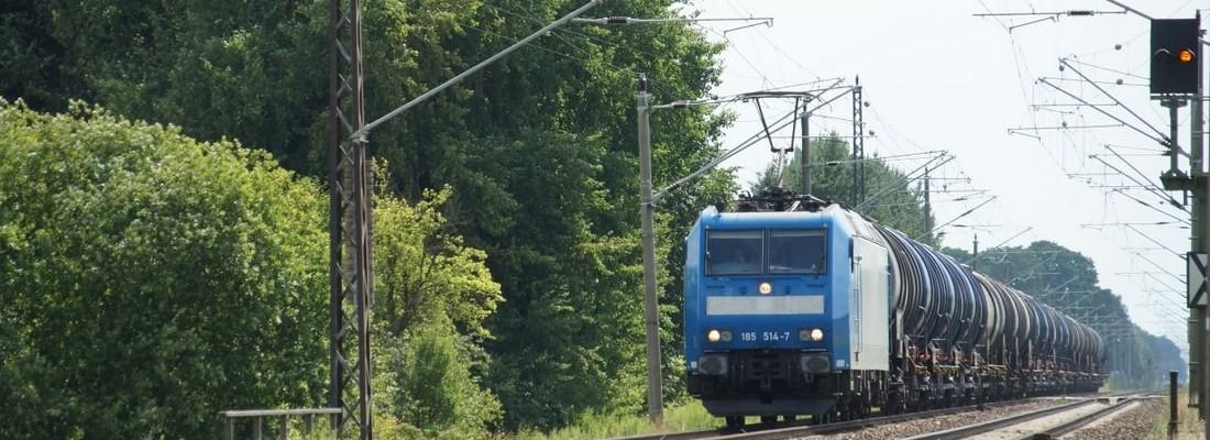 185 514-7 auf dem Weg nach Schwedt