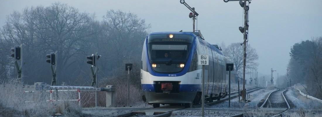 VT 0013 der Niederbarnimer Eisenbahn am Bahnhof Blumberg