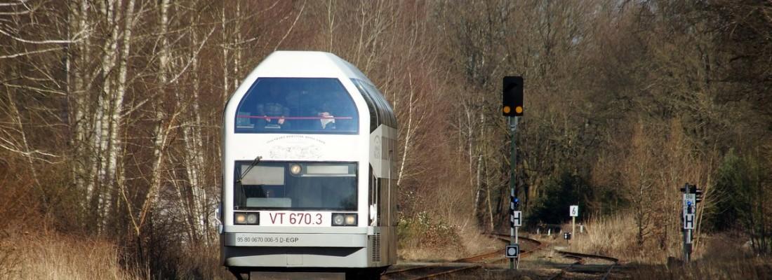 VT670.3 der EGP in Brügge (Prignitz)