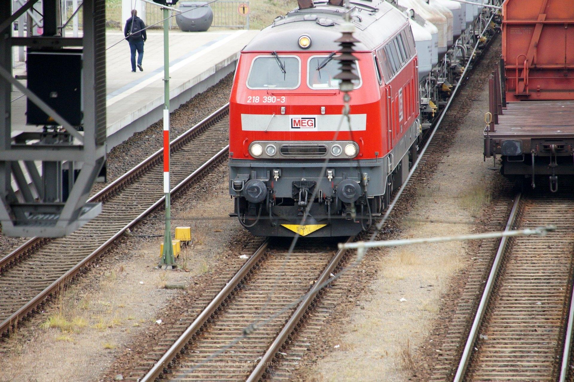 MEG 304 in Eberswalde und Korrosionsschutz an der Signalbrücke