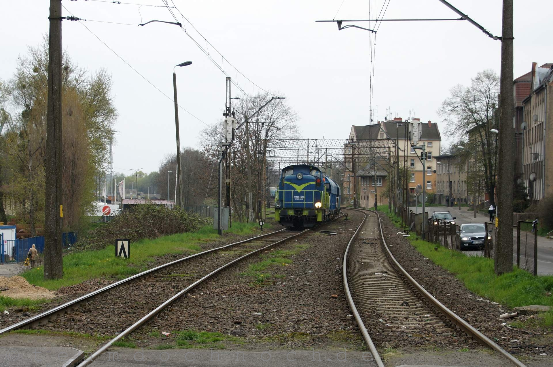 SM42-988 rangiert im Bahnhof Szczecin Krasnica