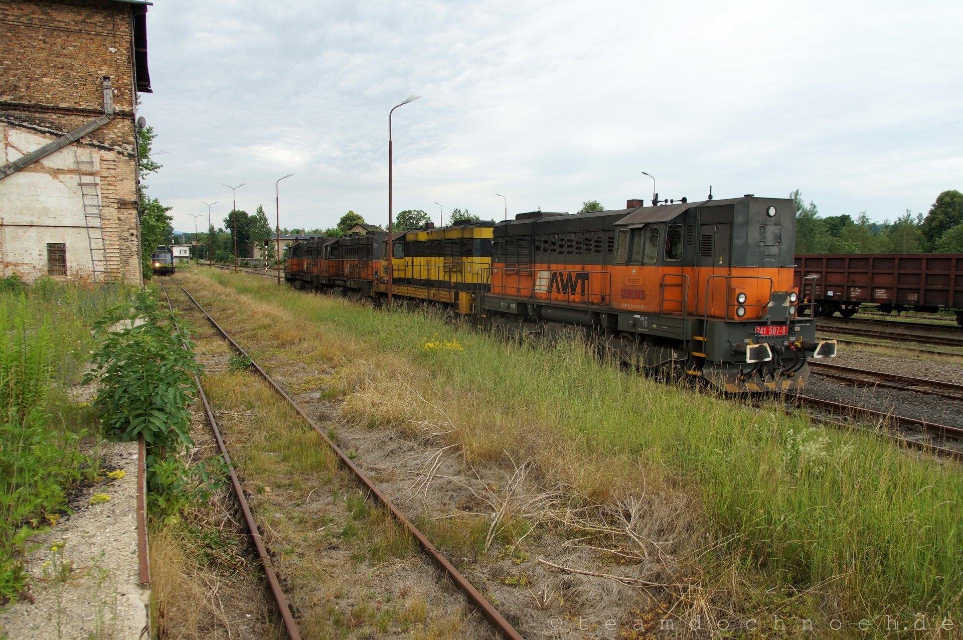 Loks der Baureihe 741 in Zawidów