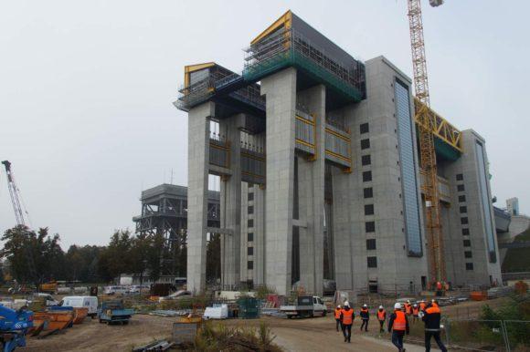 Besuch auf der Baustelle des neuen Schiffshebewerks in Niederfinow