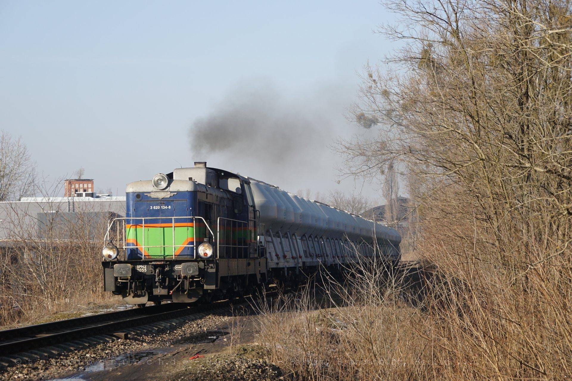 SM42 2055 in Piła auf der Bahnstrecke Bzowo Goraj–Piła