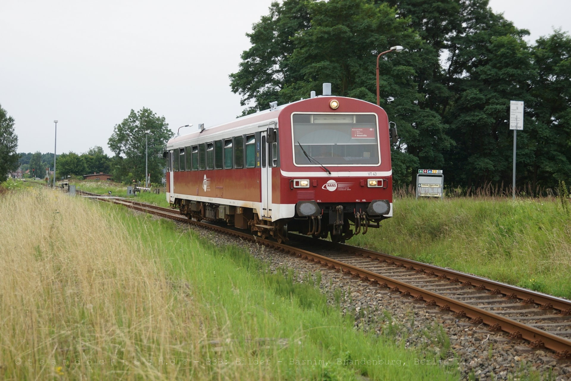 Hans VT43 als RB62055 nach Neustrelitz in Wesenberg
