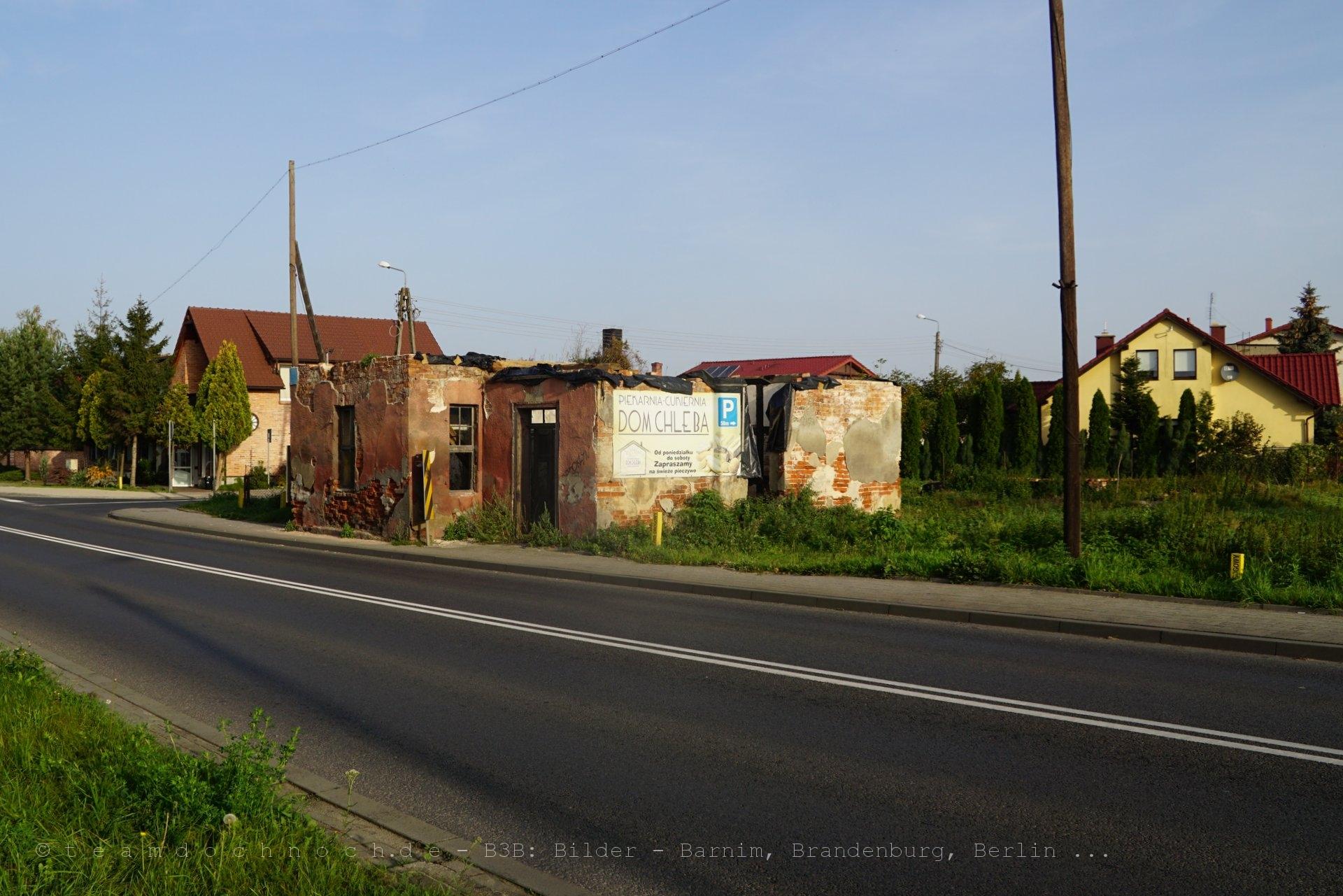 Reste eines Chausseehauses in Krosno Odrzańskie
