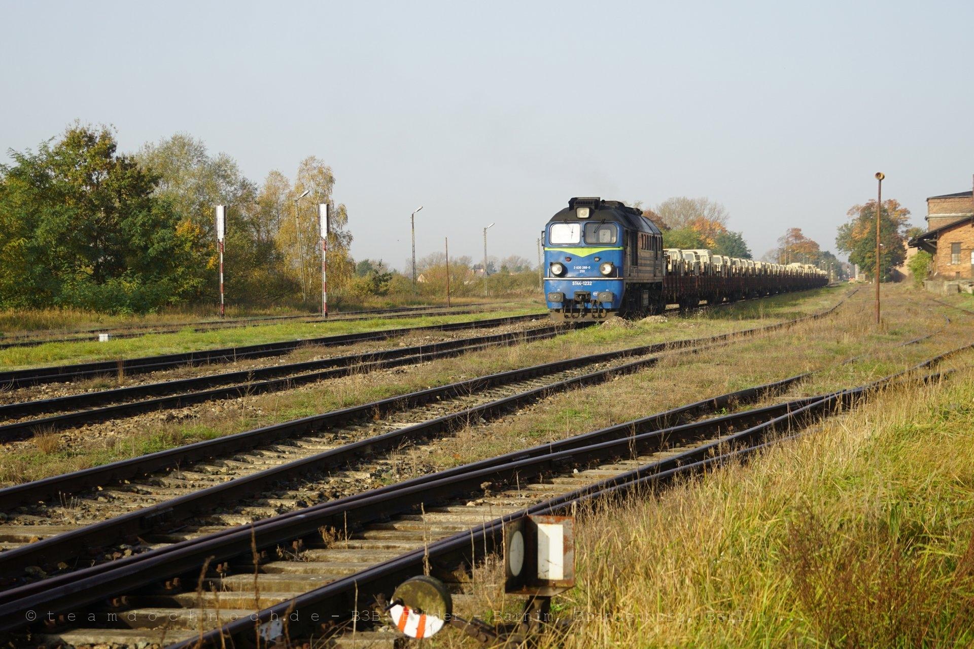 ST44-1232 wartet in Krosno Odrzańskie auf die Weiterfahrt