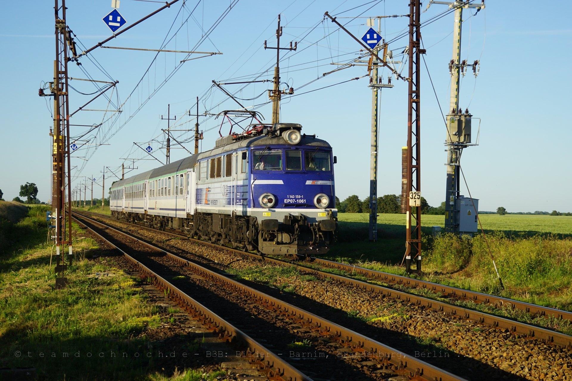 EP07-1061 mit TLK58104 nach Szczecin Główny