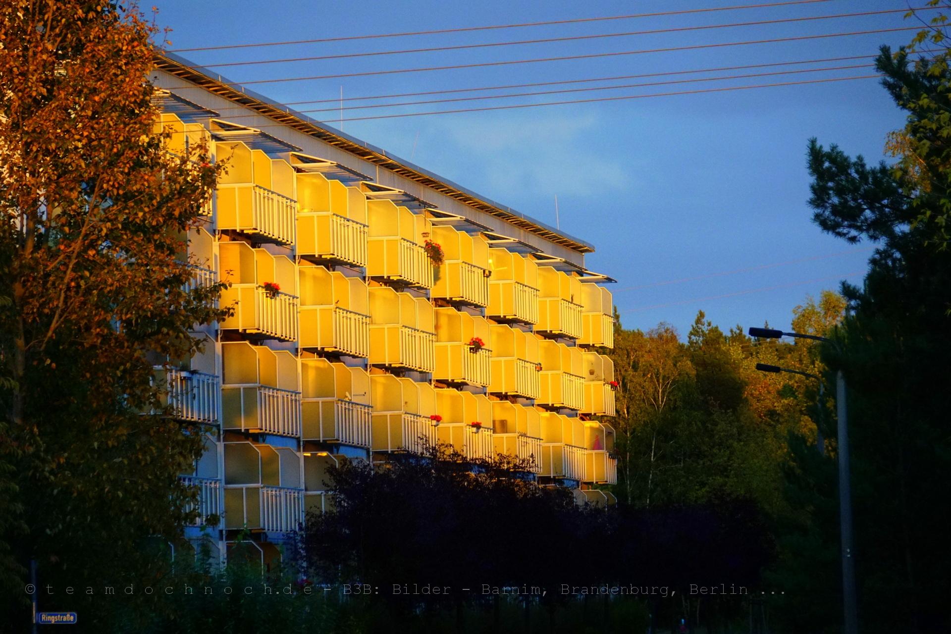 Goldene Balkone in Finow