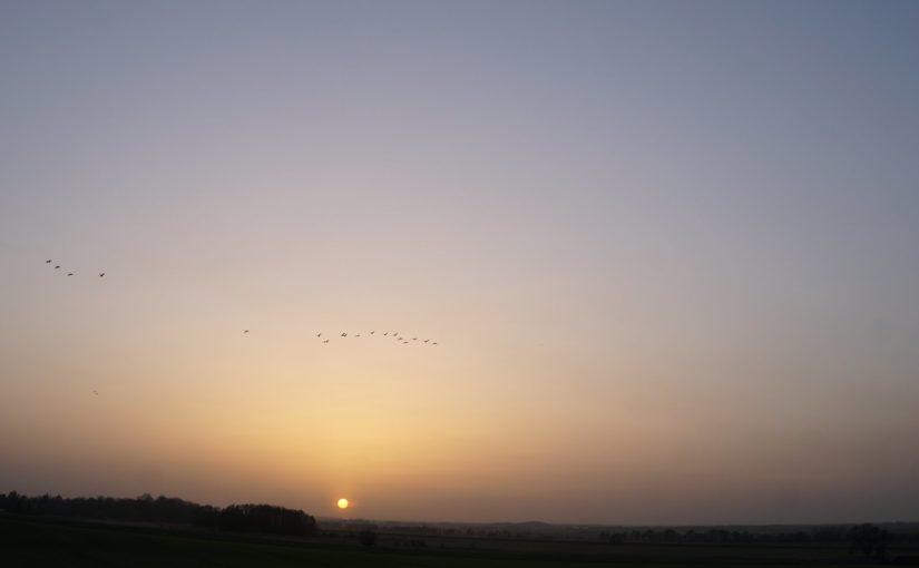 Sandiger Sonnenuntergang