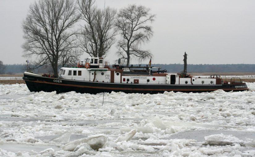 Eisbruch auf der Oder