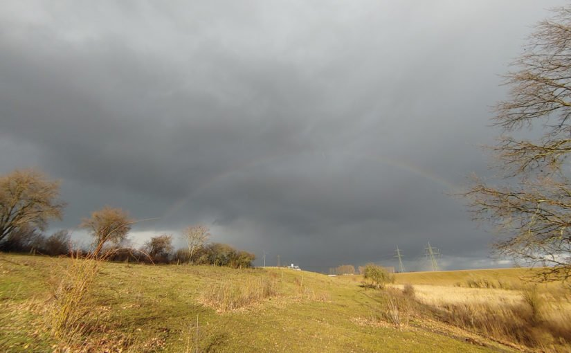 NSG Schönerlinder Teiche unter dem Regenbogen