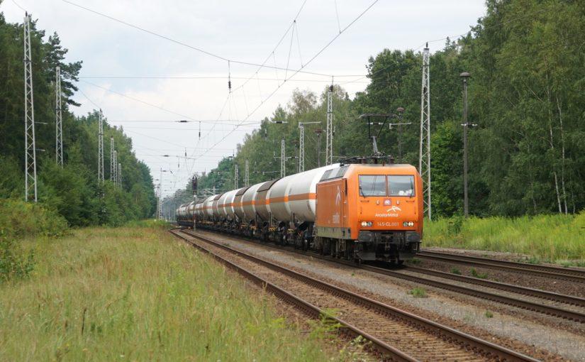 ArcelorMittal 145-CL001 mit Gaskesselwagen