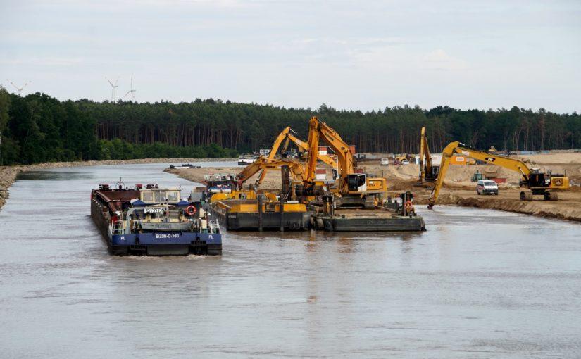 Blick auf den Ausbau des Oder-Havel-Kanals Lose E2/F2