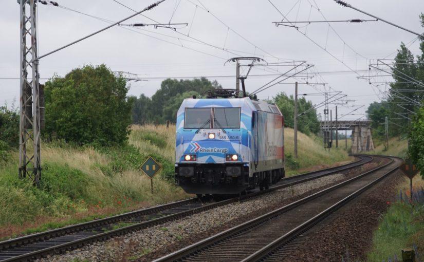 Rheincargo 185 350-6 als Lehrfahrt