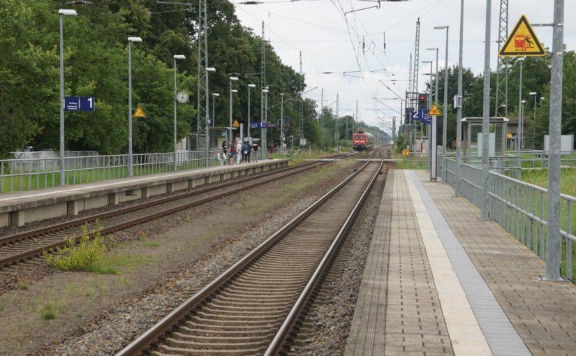 112 101 mit dem RE3 in Ferdinandshof