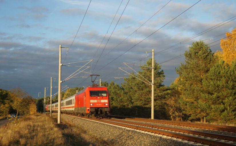 IC2903 nach Dresden Hbf nördlich von Oranienburg