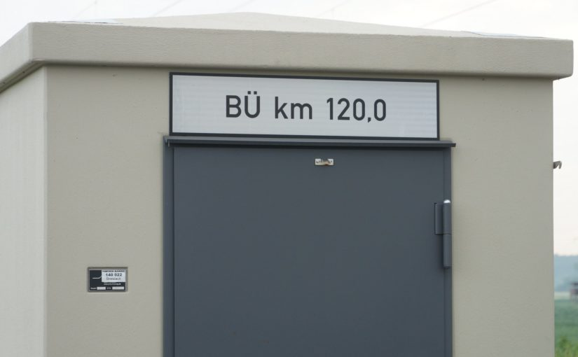 Bahnübergang an der Niederschlesisch-Märkischen  Eisenbahn km 120,0