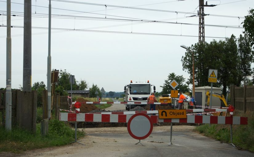 Baustelle im Bahnhof Czerna (powiat głogowski)