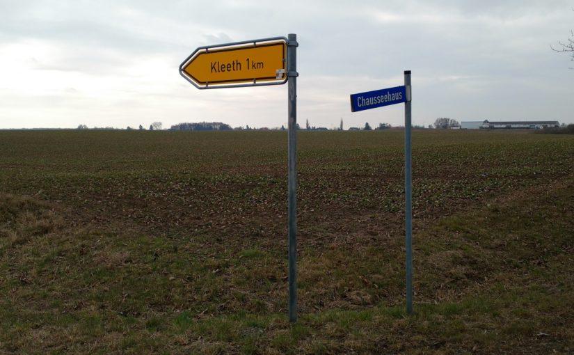 Chausseehaus Abzweig Kleeth B104