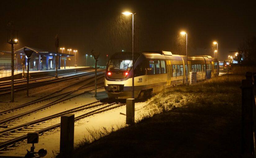 Betriebsschluß bei der NEB in Basdorf