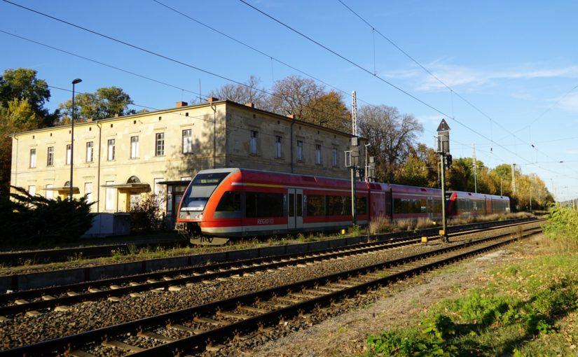 Ein Doppel-GTW am Bahnhof Passow