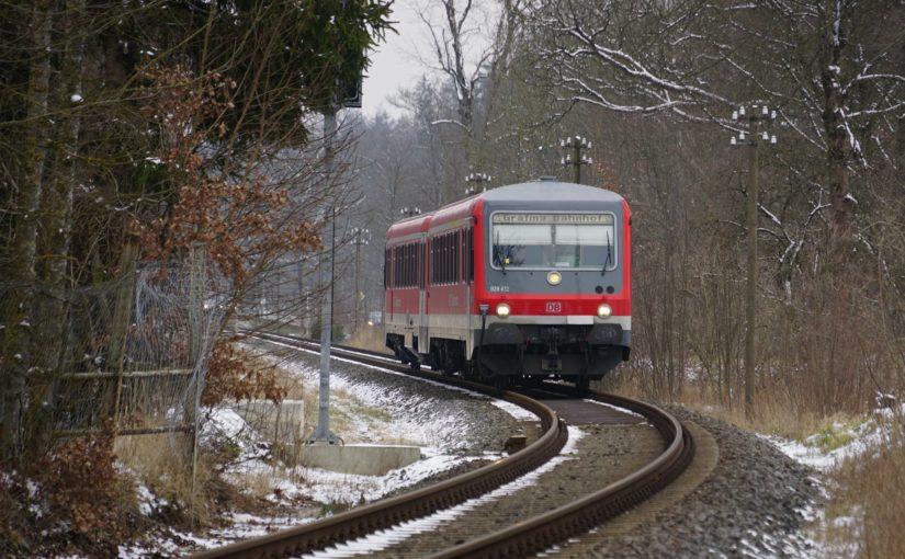 628 612 als RB27354 nach Grafing Bahnhof kurz vor dem Bahnhof Forsting
