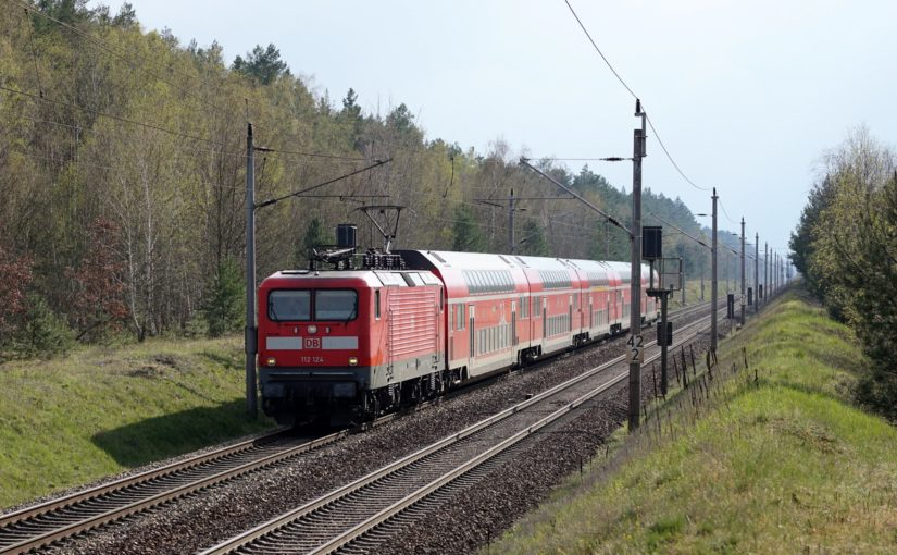 RE3 mit 112 124 nach Stralsund