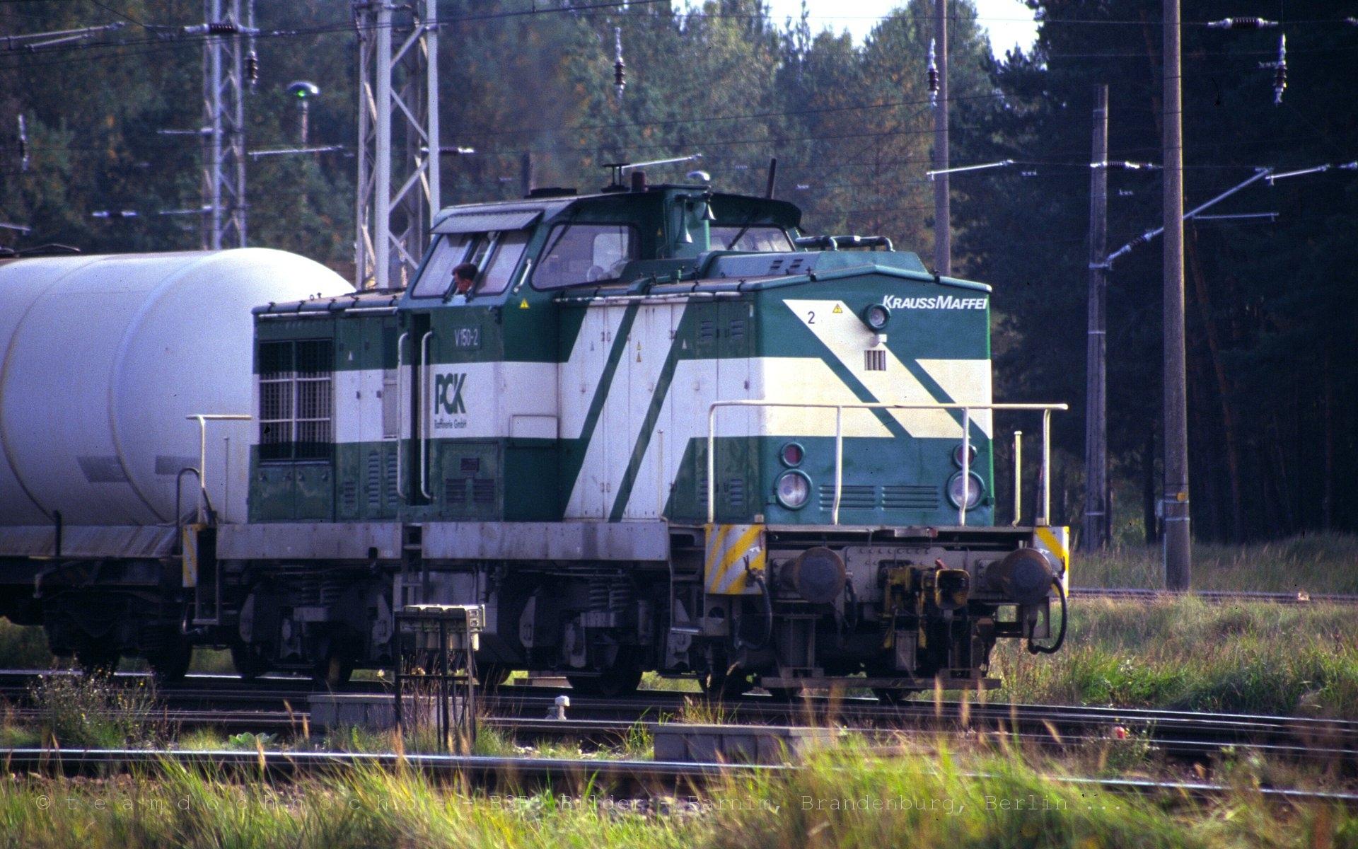 V 150-2 im Bahnhof Stendell der PCK AG