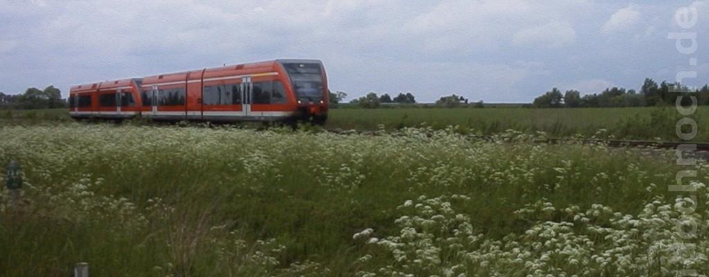 Prignitz-Express südlich von Wittstock