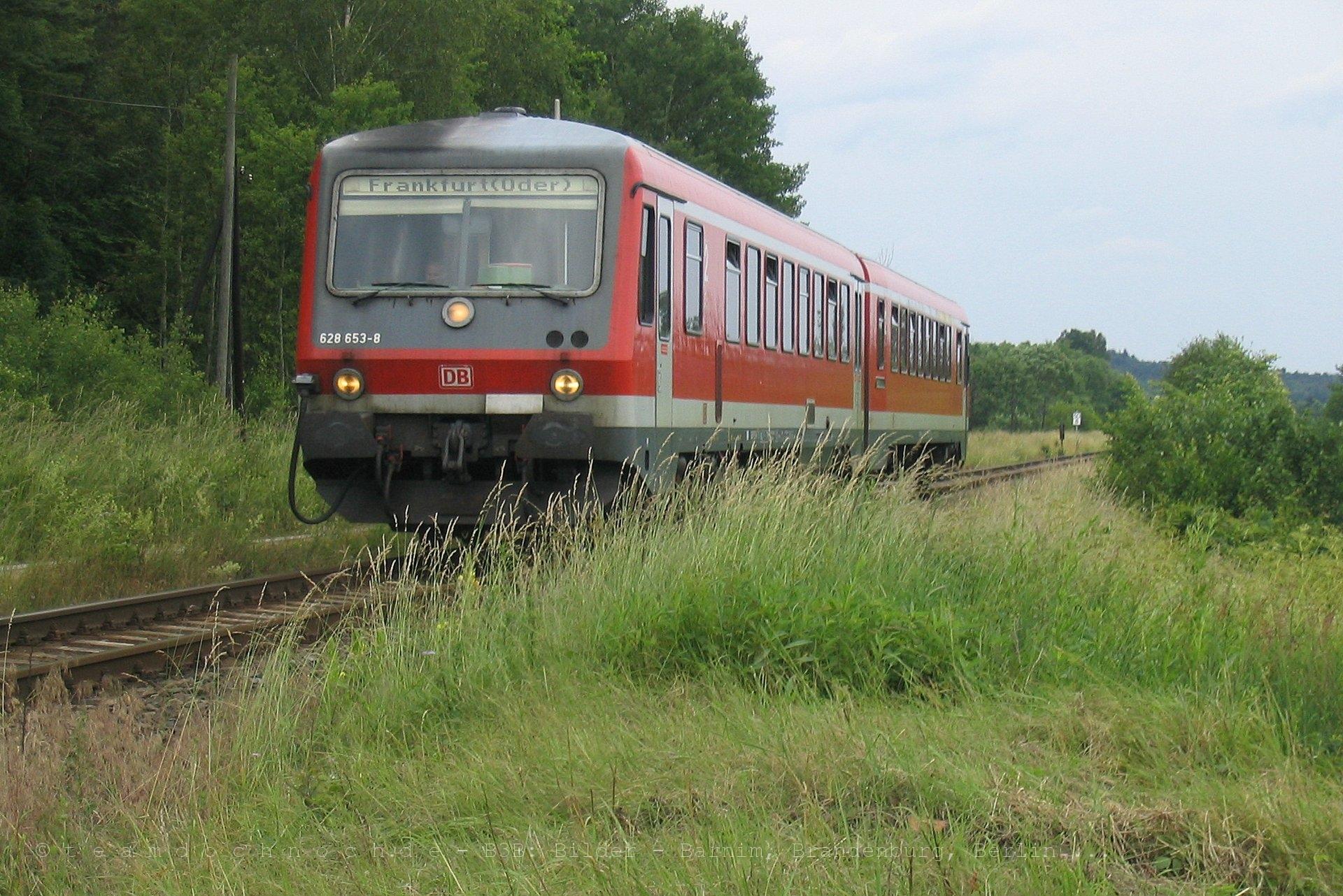 628 653-8 auf dem Weg nach Frankfurt (Oder)