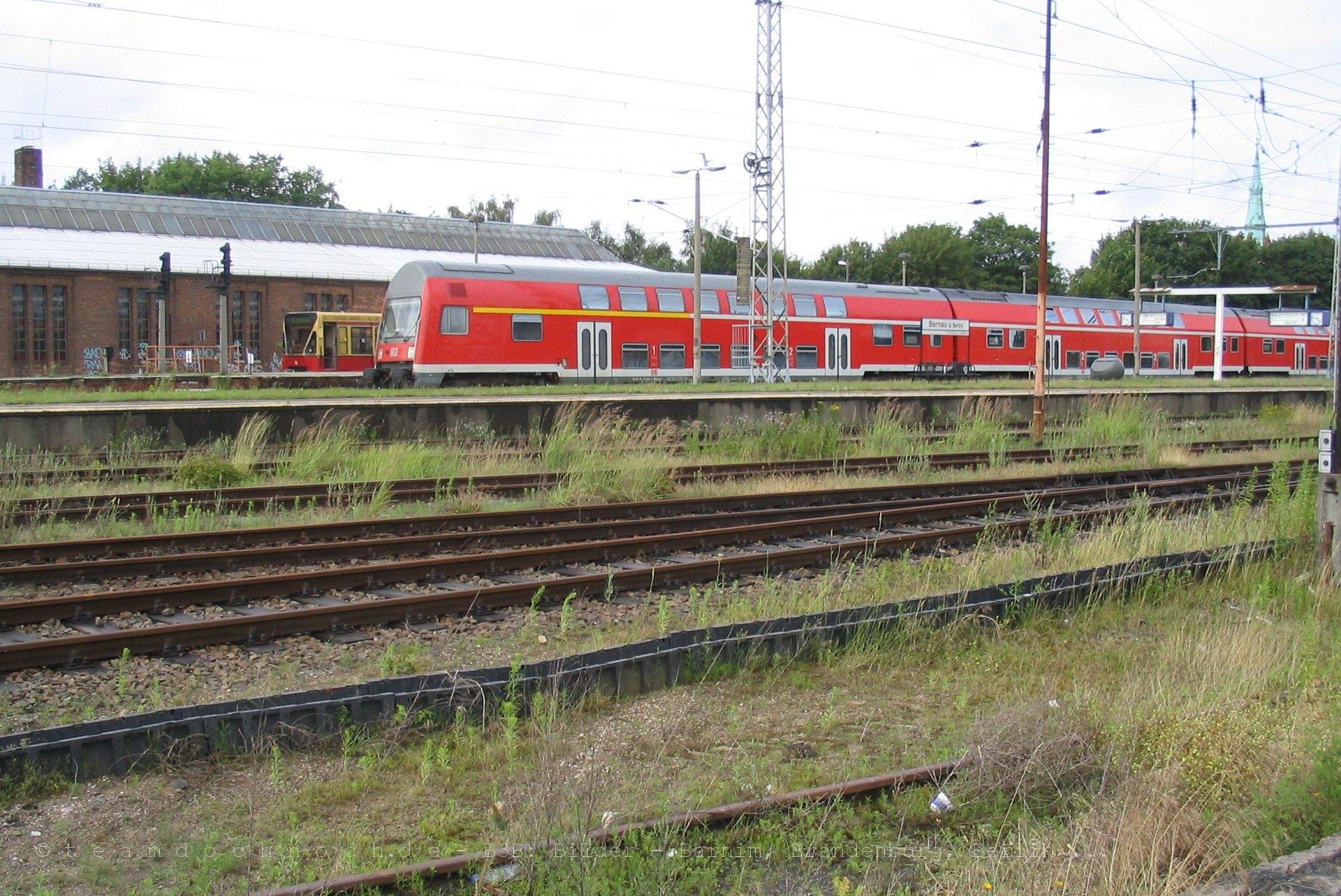 RE3 und S-Bahn in Bernau