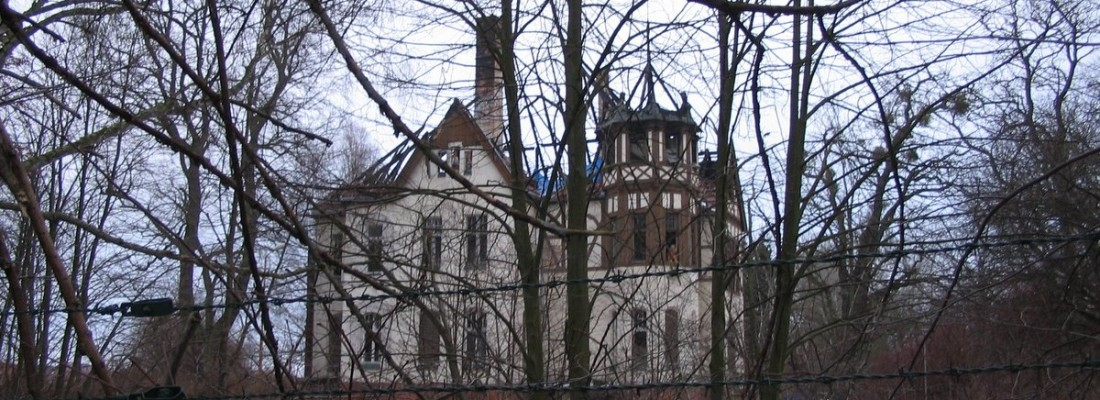 Abgebrannt: alte Villa am Finowkanal in Finowfurt/Steinfurth