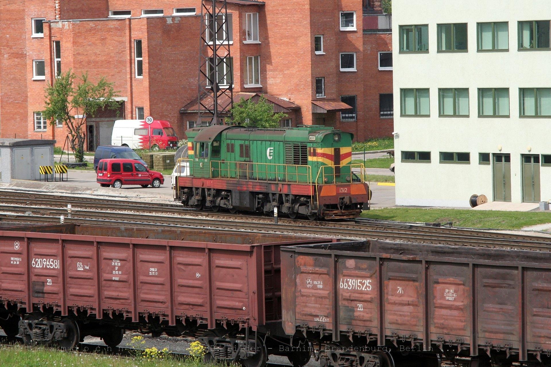 ChME3-1312 im Bahnhof von Narva
