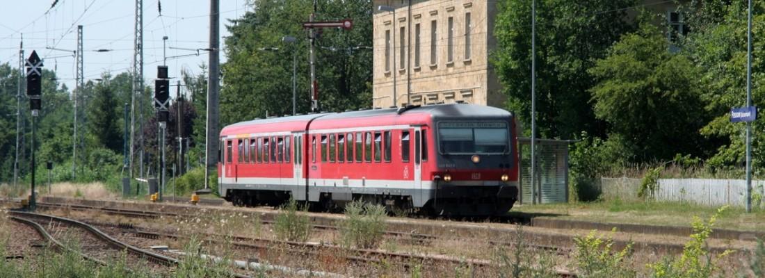 Triebwagen Reihe 628 in Passow