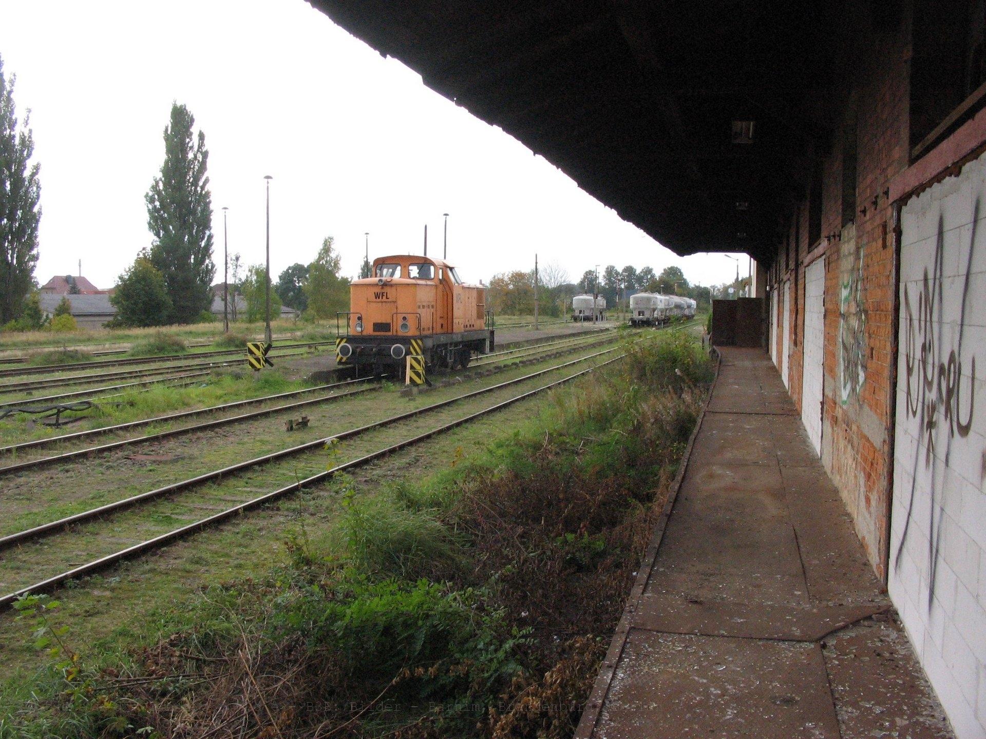 WFL Lok 1 im Neustrelitzer Südbahnhof